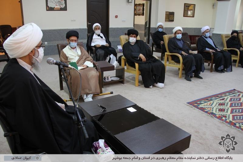 نشست ائمه جمعه استان بوشهر با حضور آیت الله صفایی بوشهری