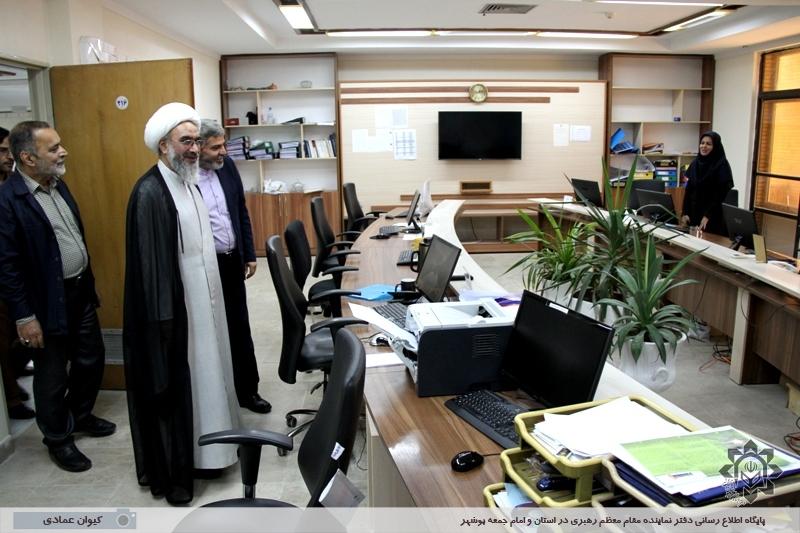 بازدید نماینده ولی فقیه در استان بوشهر از صدا و سیمای مرکز بوشهر