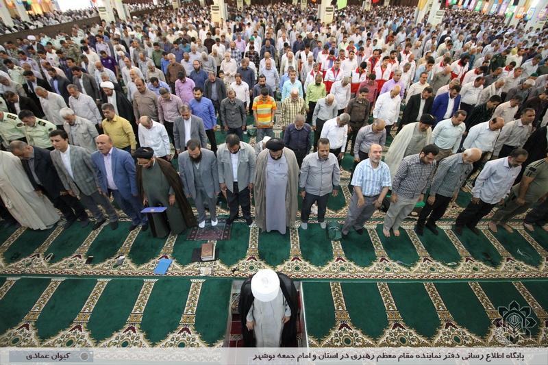 اولین نماز جمعه بوشهر در ماه مبارک رمضان