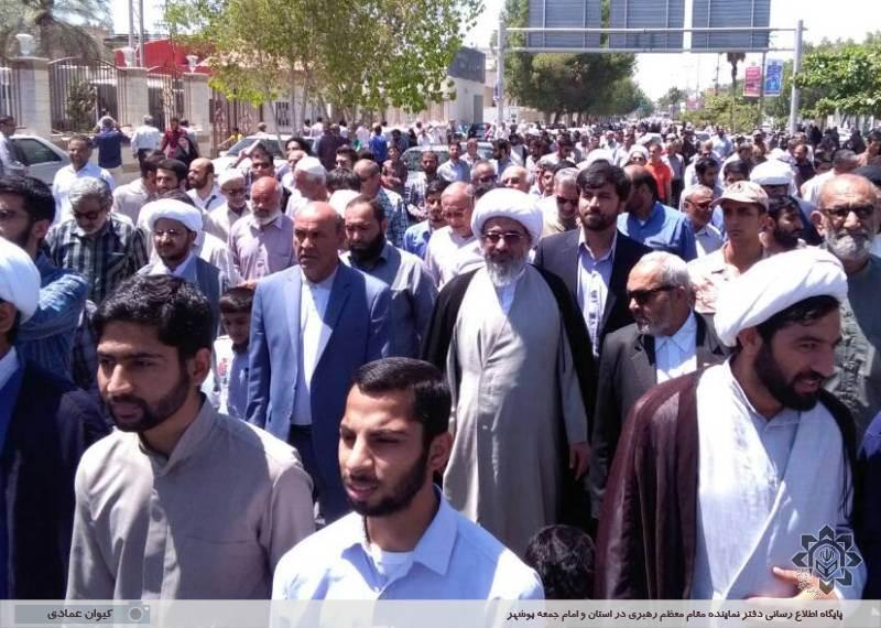 راهپیمایی نمازگزاران جمعه علیه جنایات آل خلیفه و حمایت از آیت الله شیخ عیسی قاسم