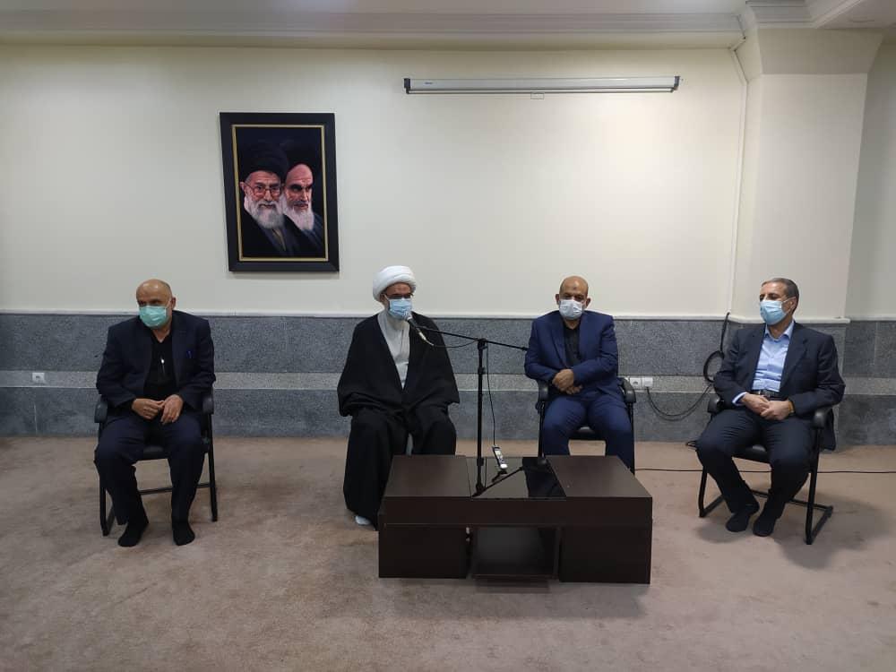 دیدار وزیر کشور و استانداران جدید و سابق بوشهر با نماینده ولی فقیه در استان و امام جمعه بوشهر