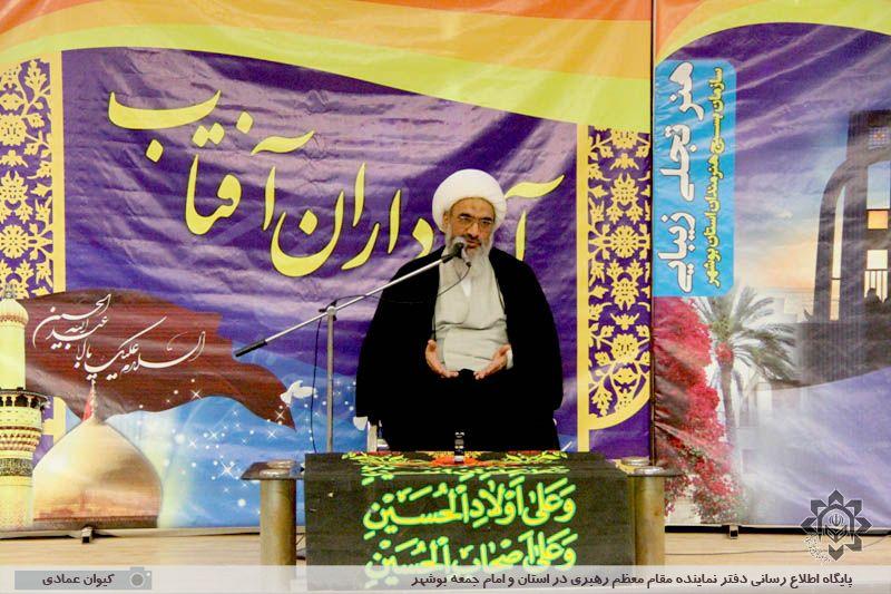 دیدار هنرمندان بسیجی استان بوشهر با آیت الله صفایی بوشهری