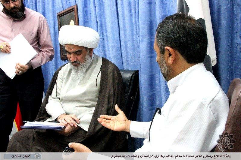 گزارش تصویری دیدار عمومی هفتگی نماینده ولی فقیه در استان و امام جمعه بوشهر