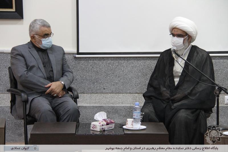 دیدار دکتر علاء الدین بروجردی با آیت الله صفایی بوشهری