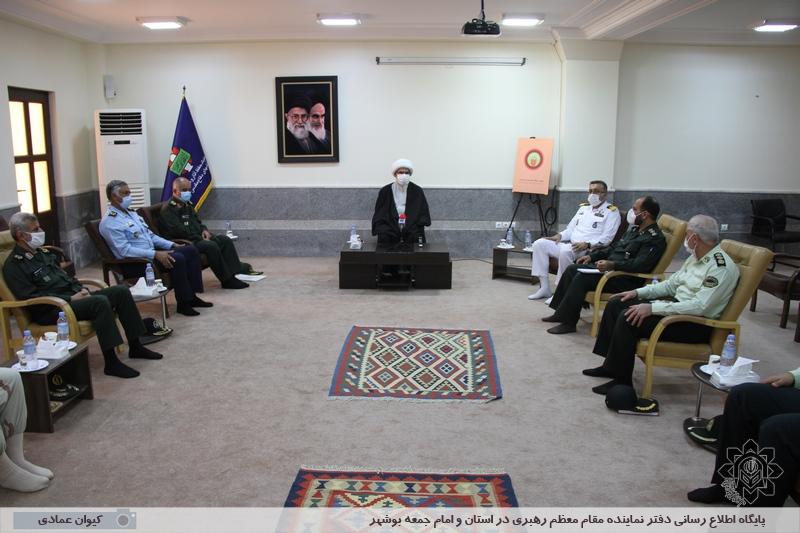 دیدار فرماندهان نظامی استان بوشهر با امام جمعه بوشهر