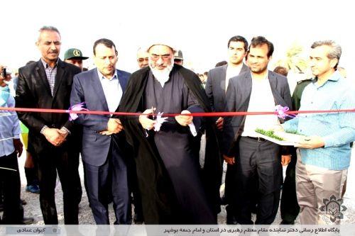 افتتاح زمین چمن مصنوعی روستای زائر عباسی شهرستان دشتی